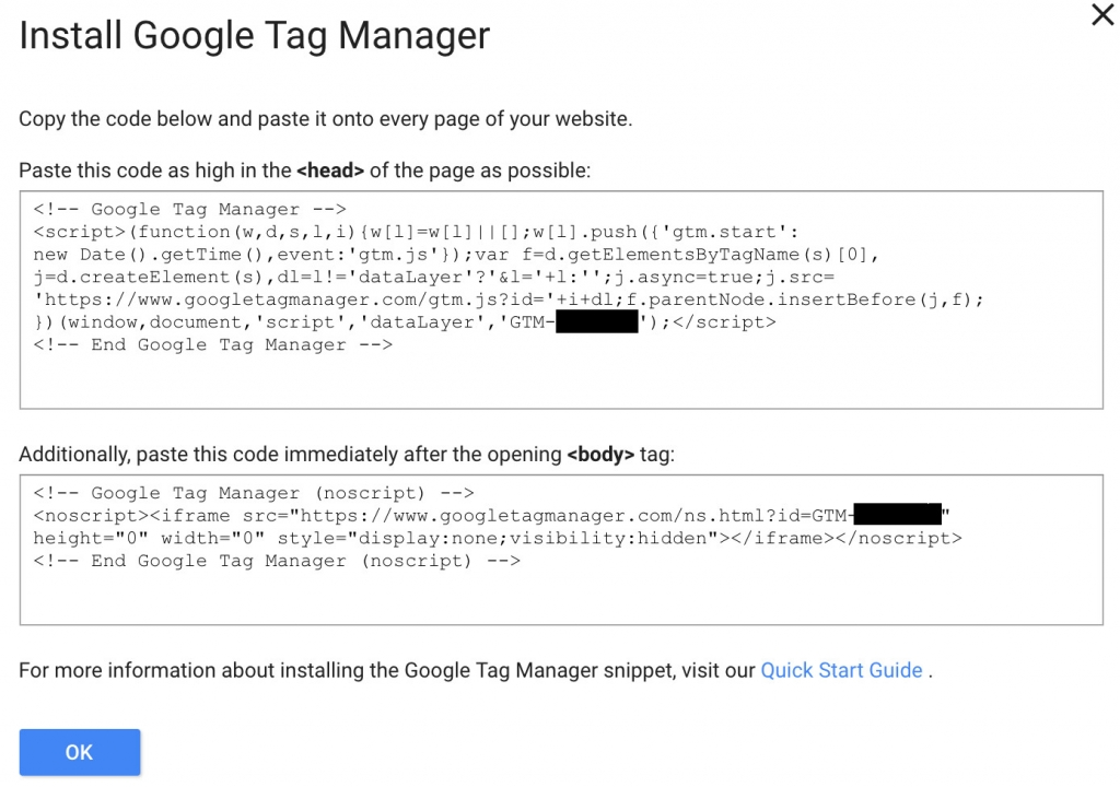 install google tag manager